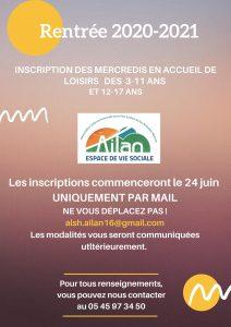 Copie de INSCRIPTION 2020-201 EN ACCUEIL DE LOISIRS
